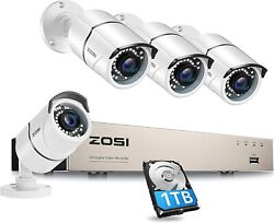 Security Camera System Kit Smartphone Video Outdoor Indoor 1080p Dvr Hd H.265+ 8