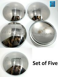Set/5 1940 Ford Deluxe Logo Stainless Wheel Hubcaps