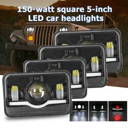 4pc Dot Approved 4x6 Led Headlight Hi/lo For Ford Chevrolet Gmc Kenworth 2 Pair