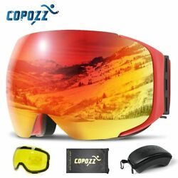Copozz Magnetic Ski Goggles With Quick-change Lens And Case Set 100 Uv400