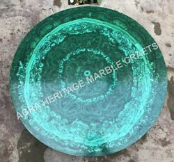 Marble Coffee Dining Round Console Table Top Malachite Inlay Hallway Decor E754