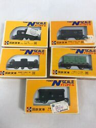 Lot Of 5 Tomy N Scale Freight Cars, New In Box, Japanese
