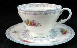 Shelley Crochet Cup + Bread And Butter Plate 13303 Great Condition