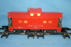 Vintage Gilbert American Flyer Lines S Gauge Trains 630 Reading Red Caboose As
