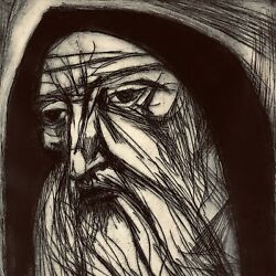 Jeremiah By Irving Amen Original Woodcut Block Print Numbered And Artist Signed