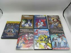 Lot Of 7 Transformers Dvd's Animated, More Than Meets The Eye, Villains, Heros