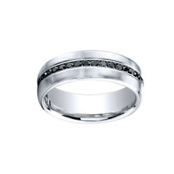 0.40 Cttw Natural Diamond Band Ring 18k White Gold Comfort-fit 7.5mm Sz 10