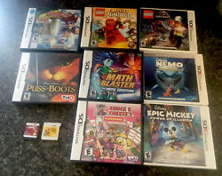 10 Nintendo Ds--ds3 Games Lot Gameboy Video Games Pre-owned. 8 With Cases 🎮