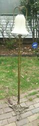 Antique Arts And Crafts Arrow Floor Lamp Signed Crest Chicago Electric Working