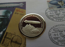Rare Graf Zeppelin First Lz 127 Usa 1931 Medal Fdc Stamp Coin Cover Exhibition 2