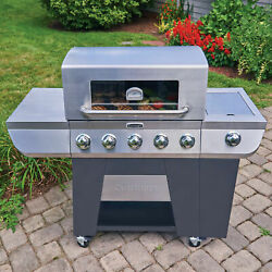 Cuisinart 3-in-1 Stainless 5-burner Bbq Gas Grill Side Burner Barbeque Outdoor C