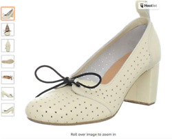 New Sz 40 / 9.5 Swedish Hasbeens Leather White Shoes Heels Pumps Anthropologie