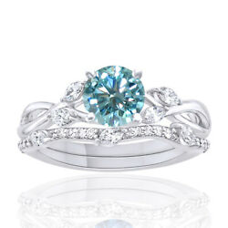 2.75 Ct Light Blue Moissanite Sterling Silver Solitaire Engagement Ring Bridal