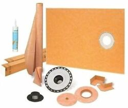 Kerdi Schluter Shower Kit 38andrdquo X 60andrdquo Off With 2andrdquo Abs Flangesealant And 4andrdquo Grate