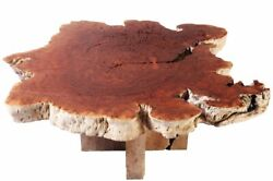Rustic Round Living Edge Coffee Table