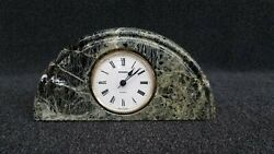 Vintage Staiger Marble Case Desk Clock - Made In Germany