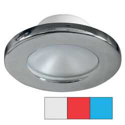 I2systems Apeiron A3120 Screw Mount Light Red Cool White And Blue Brushed Nickel