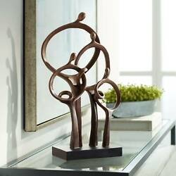 Abstract Family 19 1 4quot; High Bronze Sculpture