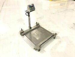 Fairbanks H23-2512 Rolling Drum Scale H90-5200-a Ss 30x30 1000lbs 450kg