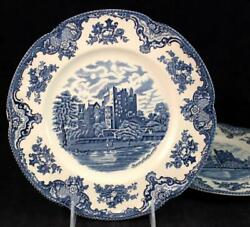 Johnson Brothers Old Britain Castles Blue 2 Dinner Plates England Great Cond