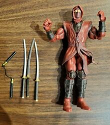 Marvel Legends Red Hand Ninja / Loose / Weapons Included