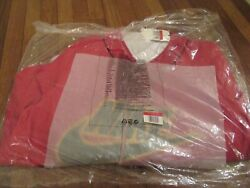 Supreme Nike Leather Baseball Jersey Size Large Red Fw19 Supreme New York New Ds