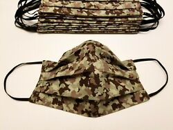 Handmade Face Mask Cotton Camo Designs Fabric Adult Washable Reversible Made USA