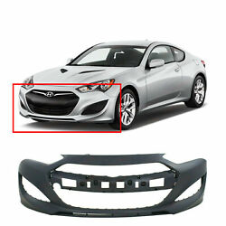 Primed Front Bumper Cover For 2013-2015 Hyundai Genesis Coupe 865112m300