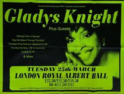 Signed Gladys Knight 1997 Royal Albert Hall London Giant Promo Poster Autograph