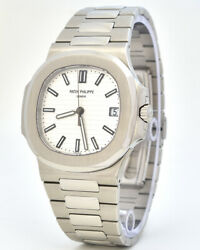 NEW PATEK PHILIPPE Nautilus 57111A011 Stainless Steel White Dial Watch (P-91)