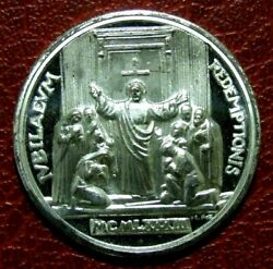 Christian Joannes Paulus Ii Pont Max Redemptionis 1983 Silver Medal
