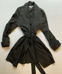 Cabi 956 Take Charge Waterfall Tie Belted Jacket Wrap Cardigan Small S