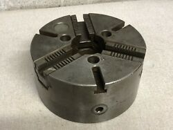 """Gisholt 10"""" Lathe Chuck Machinist 3 Jaw T Slots With Chuck Wrench"""