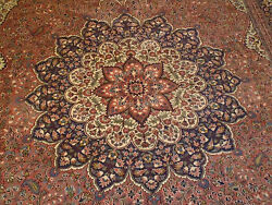 State Sale Fine Quality Handwoven Turkish Wool Rug 8and0397 X 11and03910 Rose Color