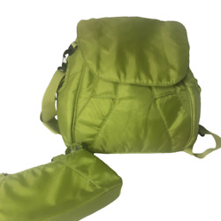 Loom Backpack Clutch Messenger Strap Green Travel Casual Nylon Quality $39.99