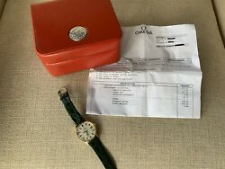 Omega Constellation 14k Men's Watch Vintage Mint, Just Fully Serviced By Omega