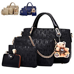 4pcs set Women Ladies Leather Handbag Shoulder Tote Purse Satchel Messenger Bag $19.89