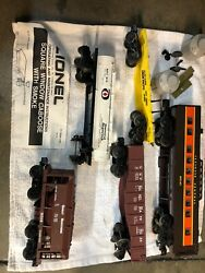 Lionel Trains And Athearn Lot Of 5 Boxcar Caboose Lionel 027 Scale