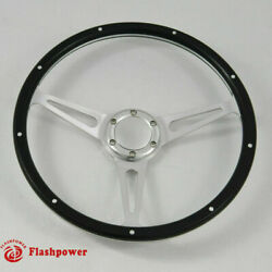 14 Black Forest Wood Steering Wheel Ford Focus Mustang Shelby Ac Cobra W/horn