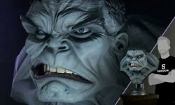 Sideshow Bust Hulk Grey Life Size Busto Limited Edition 150 Only Exclusive