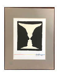 Very Important Jasper Johns Color Lithograph Plate Signed Matted Good Cond.