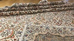 """Late 1940's Antique Muted Natural Colors Wool Pile Hereke Area Rug 6'6""""x9'5"""""""