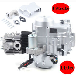 110cc 4-stroke Auto Engine Motor Air Cooled W/electric Start For Atvs Go Karts