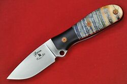 Busse Custom Game Warden .22 Hollow Ground Satin Infi G-rexed Fossil Tooth