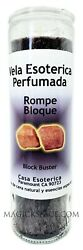 Block Buster Rompe Bloque Palm Wax Candle Vela Esoterica Perfumada