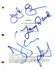 Seinfeld Cast X4 Signed Autograph- The Chinese Restaurant Episode Script Jerry