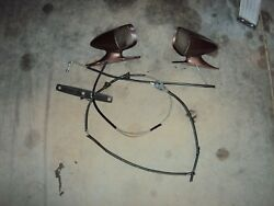 1975 Ford Torino Elite Sport Bullet Mirrors Driver And Passenger Remote 75 76