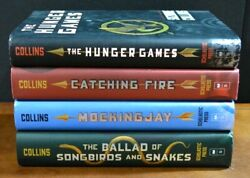 Lot 4 Hbdj The Hunger Games Trilogy By Suzanne Collins Catching Fire Mockingjay