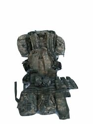 Military Acu Molle Ii Rucksack Frame Kidney Pad +2 Pouches+vest+9+assault Pack