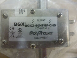 Polyphaser Bgxz-60nfnf-cns Lightning Surge Arrestor Protector-type N F/f Coaxial